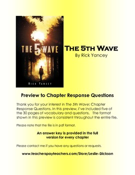 The 5th Wave: Chapter Response Questions