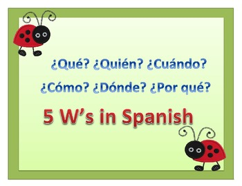 The 5w Questions in Spanish
