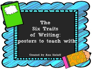 The 6 Traits of Writing: Poster freebie
