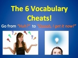 The 6 Vocabulary Cheats Poster!