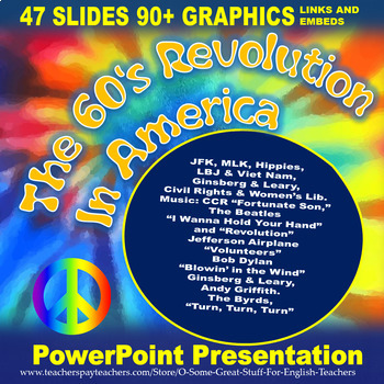 The 60's Revolution in America Vibrant and Dynamic PowerPoint Presentation