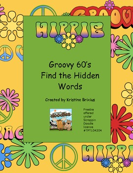 The 60s Hidden Word Search