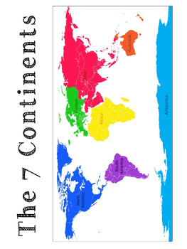 Continent Cards & Activities