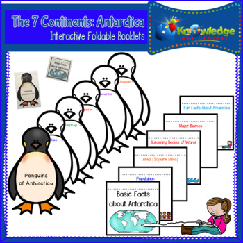 The 7 Continents: Antarctica Interactive Foldable Booklets