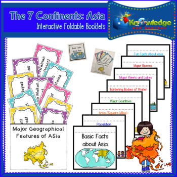 The 7 Continents: Asia Interactive Foldable Booklets