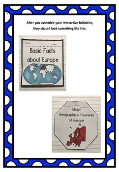 The 7 Continents: Europe Interactive Foldable Booklets