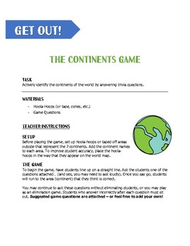 The 7 Continents Game