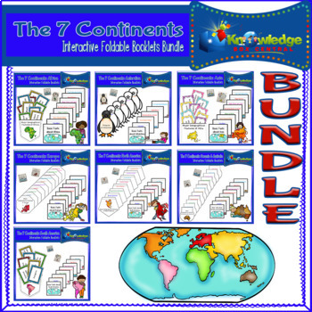 The 7 Continents Interactive Foldable Booklets BUNDLE