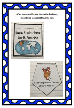 The 7 Continents: North America Interactive Foldable Booklets