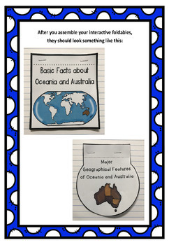 The 7 Continents: Oceania & Australia Interactive Foldable Booklets