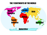 The 7 Continents of the world