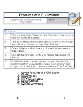 The 7 Features of a Civilization