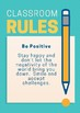 """The 7 """"Ps"""" Classroom Rules"""