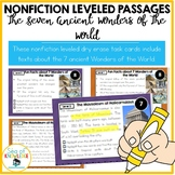 The 7 Wonders of the World Leveled Nonfiction Reading Passages