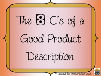 The 8 C's of a Good Product Description