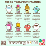 The 8 Great Math Practices Stickers (transparent .png files)