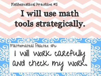 The 8 Mathematical Practices Classroom Posters(Secondary Friendly)