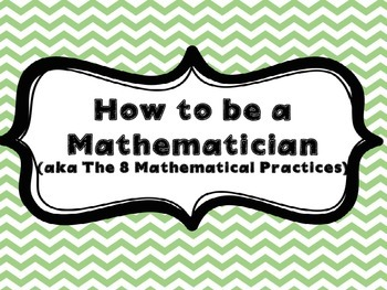 The 8 Mathematical Practices Classroom Posters(Secondary F