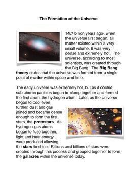 The 8th Grade Science Big Bang and the Galaxies
