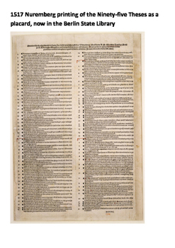 The 95 Theses - Martin Luther