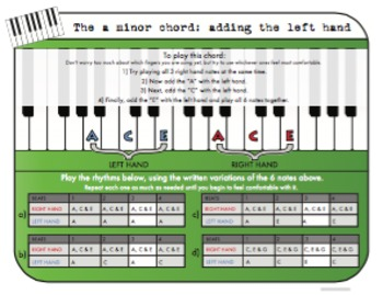 The A minor Chord for Piano - Adding the Left Hand