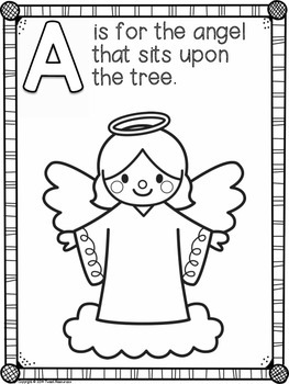 Christmas ABC Coloring Book by Tweet Resources | TpT