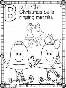 Christmas ABC Coloring Book