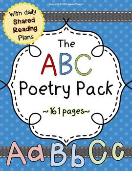 The ABC Poetry Pack ~ w/ daily Shared Reading plans {Commo