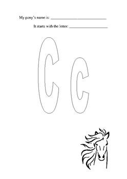 The ABC of Pony Names Activity