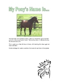 The ABC of Pony Names Activity