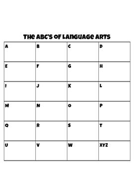 The ABC's Vocabulary Bundle