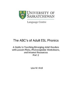 The ABC's of Adult ESL Phonics - Part 2