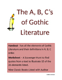 The ABC's of Gothic Literature for Grades 9-12