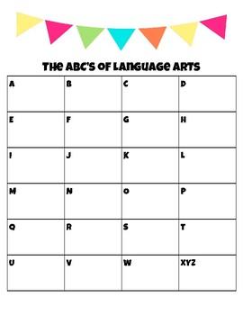 The ABC's of Language Arts