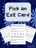 Exit Card Reflections Collection