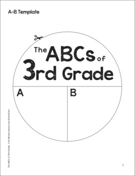 The ABCs of 3rd Grade: An End-of-the-Year Culminating Activity