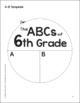 The ABCs of 6th Grade: An End-of-the-Year Culminating Activity
