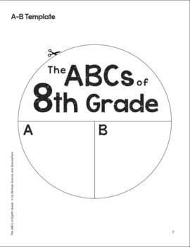 The ABCs of 8th Grade: An End-of-the-Year Culminating Activity