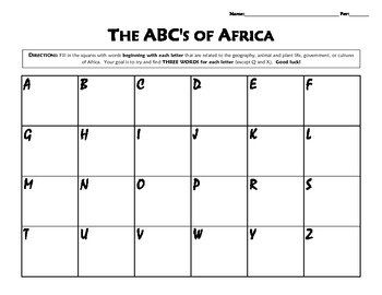 The ABC's of Africa