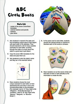The ABCs of Alabama: A Circle Book Foldable