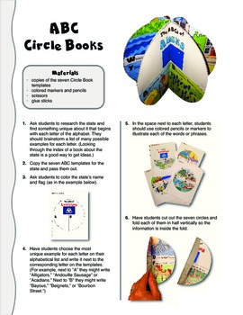 The ABCs of Alaska: A Circle Book Foldable by GravoisFare