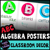 Math Posters - ABCs of Algebra Math Classroom Decor Alphabet