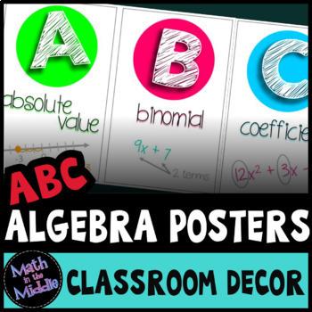The ABCs of Algebra: Math Alphabet Set for the Secondary C