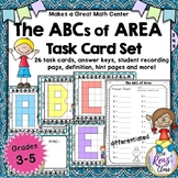 Area Task Cards - Math Center Task Cards for Area (26 task