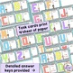 The ABCs of Area & Perimeter Task Card Math Center Set BUNDLE of 2 Products