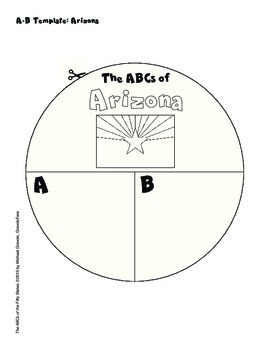 The ABCs of Arizona: A Circle Book Foldable by GravoisFare