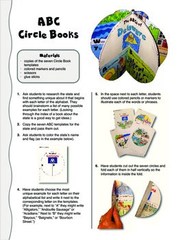 The ABCs of Delaware: A Circle Book Foldable by GravoisFare