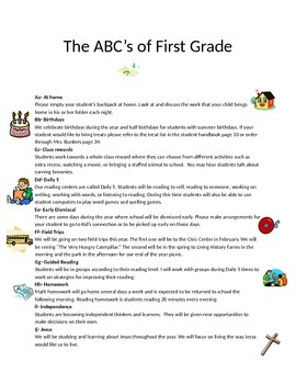 The ABCs of First Grade