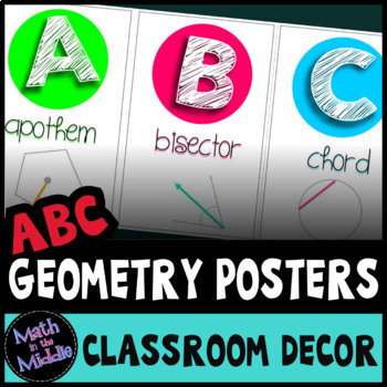 The ABCs of Geometry: Math Alphabet Set for the Secondary Classroom Math Posters