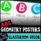 Math Posters - ABCs of Geometry Math Classroom Decor Alphabet